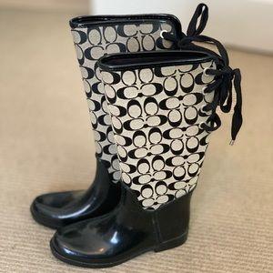 Coach Tristee rain boot size 8, barely worn